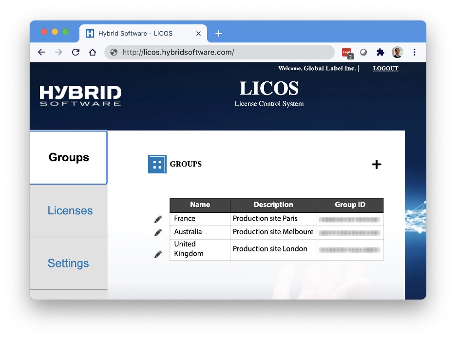 HYBRID Software LICOS License Control System