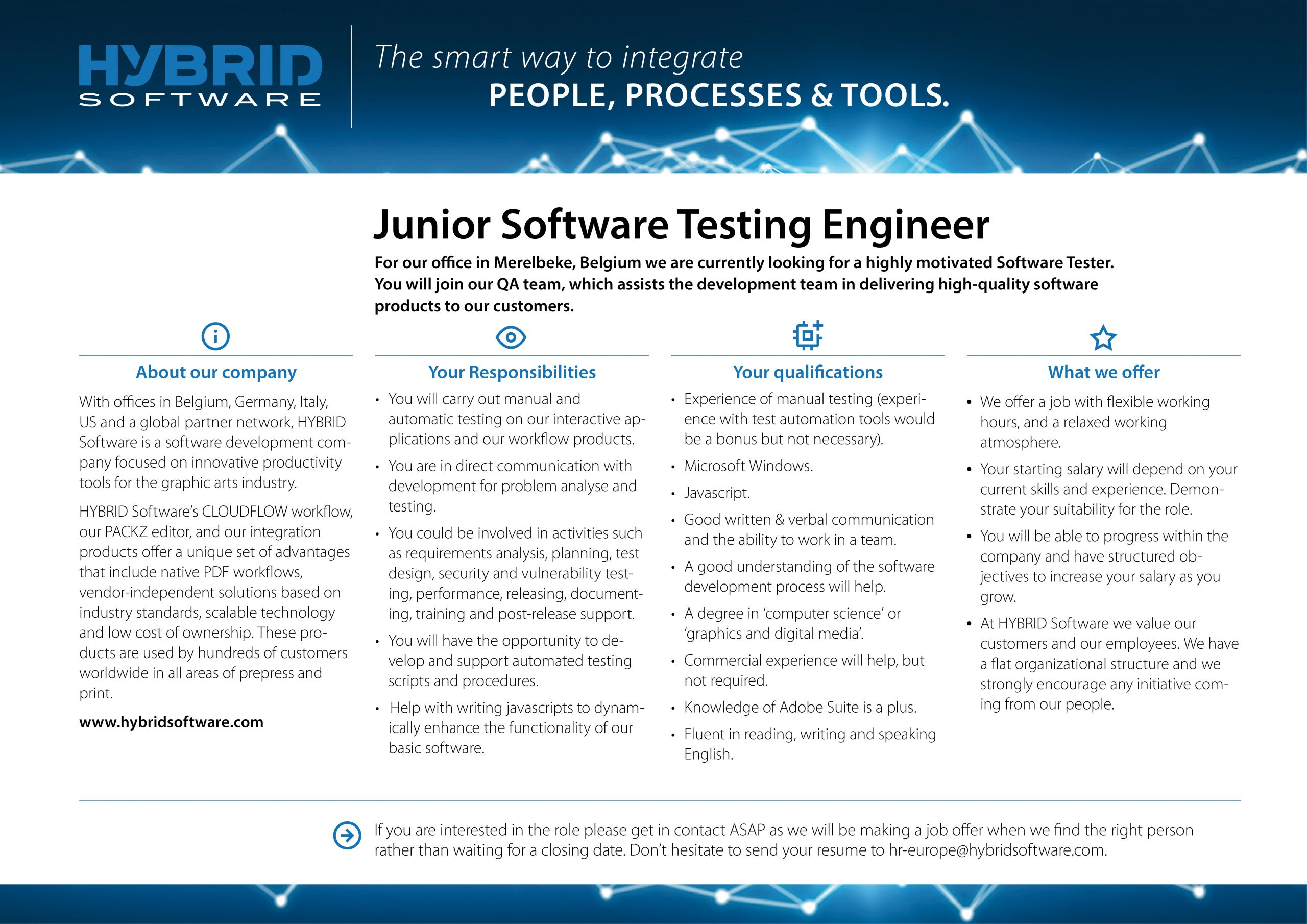 HYBRID Software Junior Software Testing Engineer